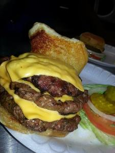 2 Triple cheese burger specials